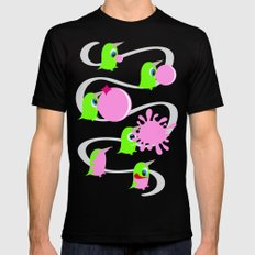 Bubol bubble gum Black Mens Fitted Tee SMALL