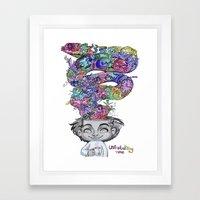 uninstalling my mind  Framed Art Print