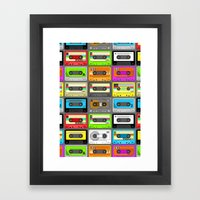 Retro 80s Cassette Tape … Framed Art Print