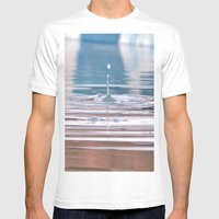 Droplet Mens Fitted Tee White SMALL