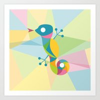 Kaleidoscope Lizard Art Print