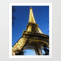 Eiffel - Night Art Print