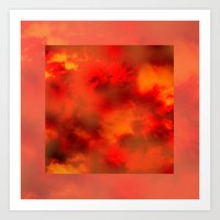 Cosmic Clouds In Red Cu… Art Print