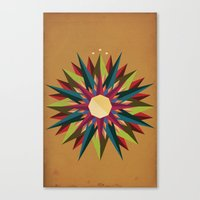 Half Circle Stars Canvas Print