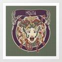 foolish medusa (green) Art Print