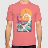 Surf Before Christmas Mens Fitted Tee Pomegranate SMALL