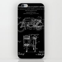Motorcycle Sidecar Patent 1912 - Black iPhone & iPod Skin