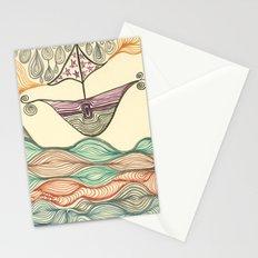 Hundertwasser's last voyage Stationery Cards