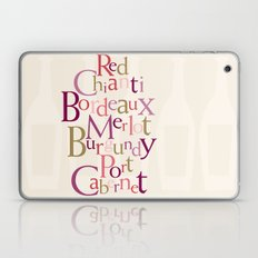 red wine words Laptop & iPad Skin