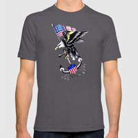 American Traditional Mens Fitted Tee Asphalt SMALL