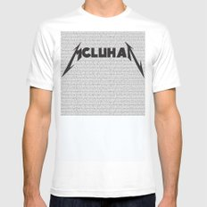 Heavy Metal Thunders SMALL White Mens Fitted Tee