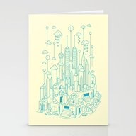Stationery Cards featuring Kuala Lumpur by Steven Toang