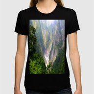 MountaiNS Womens Fitted Tee Black SMALL