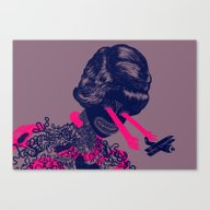 Canvas Print featuring Look Into My Beautiful E… by Zansky