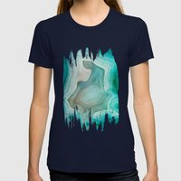THE BEAUTY OF MINERALS 2 Womens Fitted Tee Navy SMALL