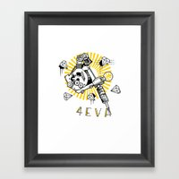 Tattoos And Diamonds Are… Framed Art Print