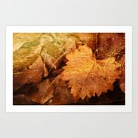 I heart Leaves Art Print