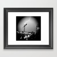 Lightning Skip Framed Art Print