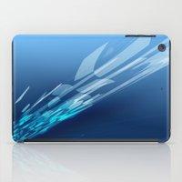 Abstract blue iPad Case