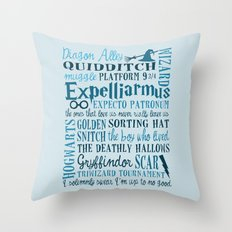 Harry Potter - All Quotes  Throw Pillow