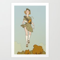 Floating Girl Scout Art Print