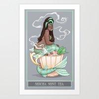 Mermaid Teas: Mocha Mint Art Print