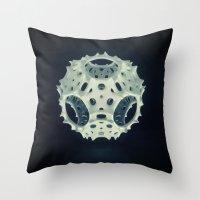 Icosahedron Bloom Throw Pillow