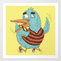 Rubro Duck Art Print