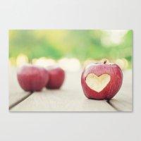 Love Apple Canvas Print