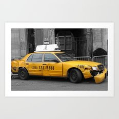 World War Z Taxi Cab Art Print