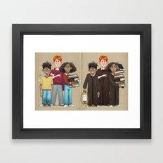 Dorky Kids Go To Private School Framed Art Print