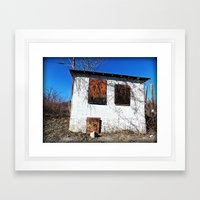 Boarded Up Framed Art Print