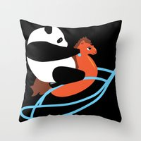 Panda Rock Throw Pillow