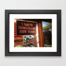 I Love Immigrant New York! Framed Art Print