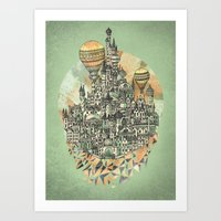 city Art Prints featuring Emerald City by David Fleck