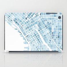 Map Seattle Washington Blueprint watercolor map iPad Case