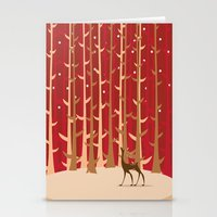 Christmas Reindeer. 1 Stationery Cards