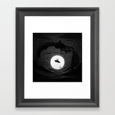 Drawlloween 2014: Bat Framed Art Print