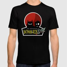The Adventures of Bat man and Rob Zombie SMALL Mens Fitted Tee Black