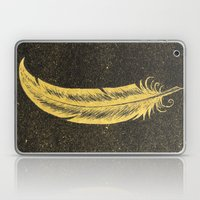 Yellow Feather Laptop & iPad Skin