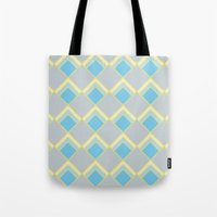 Diamond Art Deco; - Blue Tote Bag