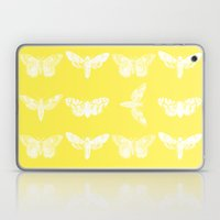 Yellow Moth's; Laptop & iPad Skin