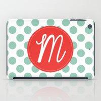 Monogram Initial M Polka… iPad Case