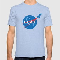 LEAF Mens Fitted Tee Tri-Blue SMALL