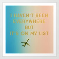 My List Art Print
