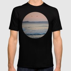 Sea Birds Black SMALL Mens Fitted Tee