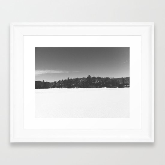 Kenisis Lake winter Framed Art Print