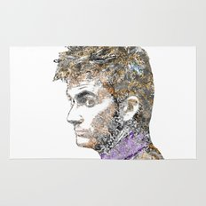 David Tennant Dr. Who Text portrait Rug