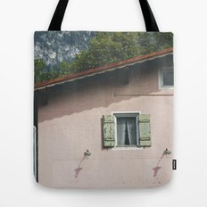Pink Alpine House Tote Bag
