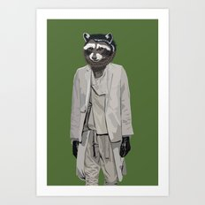 Raccoon wearing Ann Demeulemeester Art Print